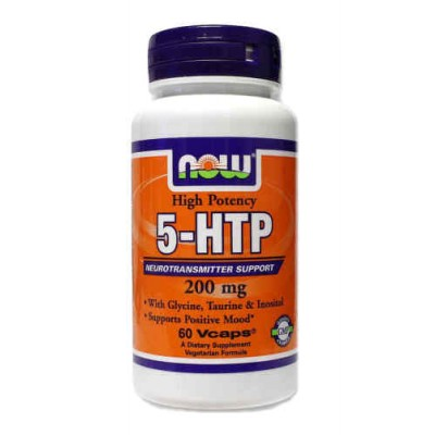 5-HTP 200 мг с Глицином, Таурином и Инозитолом / 5-HTP 200 mg with Glycine, Taurine & Inositol, Now Foods