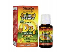 Анимал Парад Витамин Д-3 в каплях / Animal Parade Vitamin D3 Liquid Drops, Nature's Plus