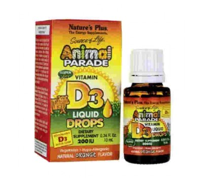Анимал Парад Витамин Д-3 в каплях / Animal Parade Vitamin D3 Liquid Drops
