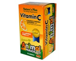Анимал Парад Витамин С для детей / Animal Parade Vitamin C Children's Chewable with Whole Food Concentrates, Nature's Plus
