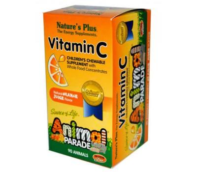 Анимал Парад Витамин С для детей / Animal Parade Vitamin C Children's Chewable with Whole Food Concentrates