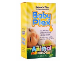Анимал Парад Беби Плекс / Animal Parade Baby Plex Sugar free Multivitamin liquid droos, Natures Plus