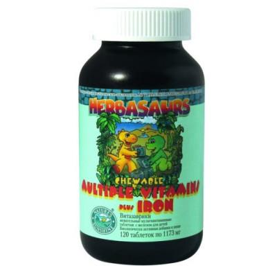 Гербазаврики / Витазаврики / Herbasaurs Chewable Multiple Vitamins plus Iron