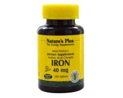 Железо / Iron, 180 таблеток, Natures Plus