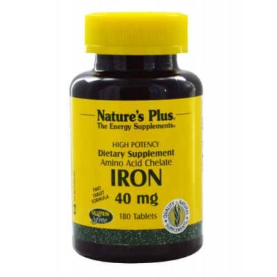 Железо / Iron, 40 мг, 180 таблеток