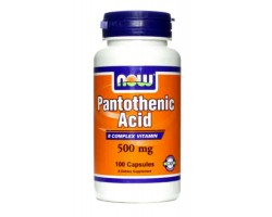 Витамин B-5 (Пантотеновая кислота) / Pantothenic Acid, Now Foods