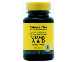 Витамин А и Д / Vitamins A 10000 IU & D 400 IU Softgels, Natures Plus
