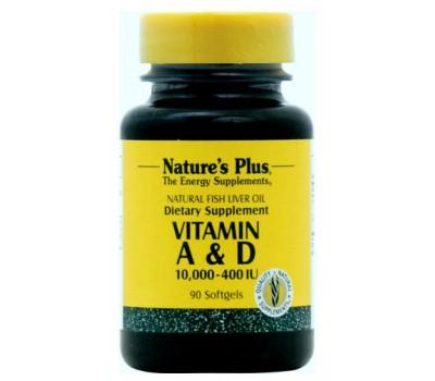 Витамин А и Д / Vitamins A 10000 IU & D 400 IU Softgels