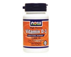 Витамин Д3 2000 МЕ / Vitamin D3 2000 IU, Now Foods